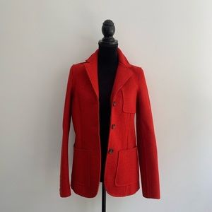 Joe Fresh Red Wool Peacoat Size Petite Small
